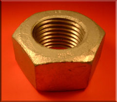 Metric Galvanised 2H Nut